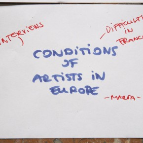Conditions of artist in Europe - Marta